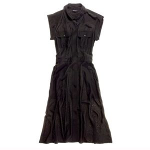 Madewell Broadway & Broome Black Silk Safari Dress